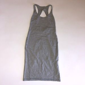 Lululemon Go For It Hyper Striped Tank Dress Gray